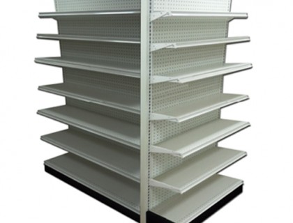 GONDOLA SHELVING END CAP COMPLETE UNIT