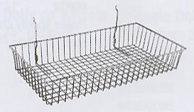 METAL BASKET SLATWALL