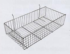 METAL SLATWALL BASKET